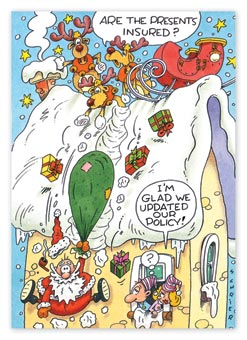 Festive Folly Insurance Christmas Cards