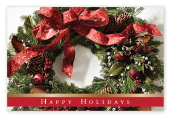 Dappled Wreath Holiday Postcards