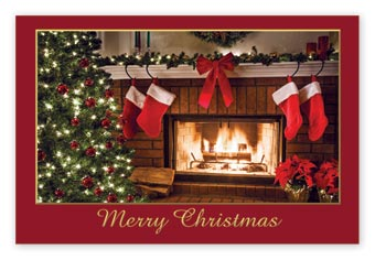 Christmas Hearth Postcards