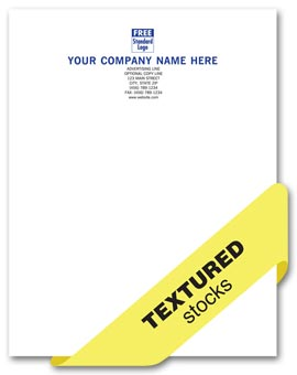 Preferred Letterhead, 1 or 2 ink colors, textured stocks