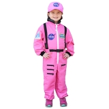Get Real Gear Dress Up for Kids, NASA Astronaut Pink Jumpsuit, Size 4/6