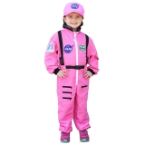 Get Real Gear Dress Up for Kids, NASA Astronaut Pink Jumpsuit, Size 6/8