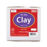 Air Dry Clay, White, 10 lbs.