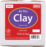 Air Dry Clay, White, 10 lbs. Per Box, 2 Boxes