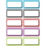 Die-Cut Magnetic Colorful Chevron Labels/Nameplates, 10 Pieces