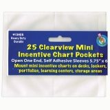 CLEAR VIEW SELF-ADHESIVE 25/PK  POCKET MINI INCENTIVE CHART 5.75X6