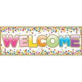 "Magnetic Welcome Banners, 6"" x 17"", Confetti"