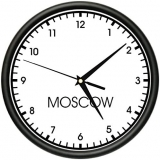 "Time Zone 12"" Instruction Clock"