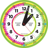 "Time Zone 12"" Advanced Instruction Clock"