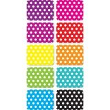 "Magnetic Mini Whiteboard Erasers 2"" x 1.5"" x .75, Dots, Pack of 10"