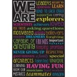 "Smart Poly ""WE ARE"" Chart, Dry-Erase Surface, 13"" x 19"""