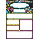"Smart Poly Chart, 13"" x 19"", Word of the Week, w/Grommet"