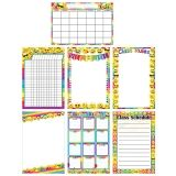 "Smart Poly Chart, 13"" x 19"", Emoji Assorted Styles, Pack of 7"
