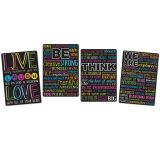 "Smart Poly Motivational Classroom Charts, 13"" x 19"", Set of 4"