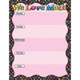 "Smart Poly We Love Math Emoji Chart, Dry-Erase Surface, 17"" x 22"""