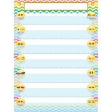 "Smart Poly Pocket Chart, 18"" x 24"", 7 Pockets & 2 Grommets, Emoji, Pack of 5"