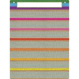 "Smart Poly Pocket Chart, 18"" x 24"", 7 Pockets & 2 Grommets, Burlap Stitched, Pack of 5"