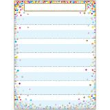 "Smart Poly Pocket Chart, 18"" x 24"", 7 Pockets & 2 Grommets, Confetti"