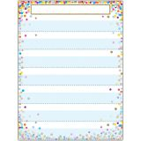 "Smart Poly Pocket Chart, 18"" x 24"", 7 Pockets & 2 Grommets, Confetti, Pack of 5"