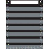 "Smart Poly Pocket Chart, 18"" x 24"", 7 Pockets & 2 Grommets, Chalk Loops"