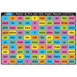 "Smart Poly Learning Mats, 12"" x 17"", Double-Sided, Sight Words 1st & 2nd 100, Pack of 10"
