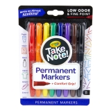 Take Note! Permanent Markers, Pack of 8