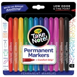 Take Note! Permanent Markers, Pack of 12