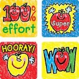 STICKERS APPLES KID-DRAWN 120/PK  ACID & LIGNIN FREE