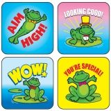STICKERS FROGS 120/PK ACID & LIGNIN  FREE