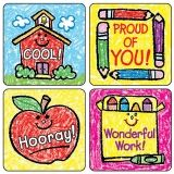 STICKERS SCHOOL DAYS KID- 120/PK  DRAWN ACID & LIGNIN FREE
