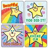 STICKERS STARS KID-DRAWN 120/PK  ACID & LIGNIN FREE