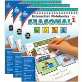 Interactive Notebooks: Seasonal Resource Book, Grade 1, Pack of 3