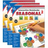 Interactive Notebooks: Seasonal Resource Book, Grade 2, Pack of 3