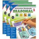 Interactive Notebooks: Seasonal Resource Book, Grade 3, Pack of 3