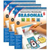 Interactive Notebooks: Seasonal Resource Book, Grade 5, Pack of 3