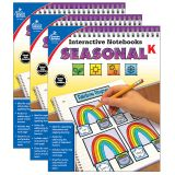 Interactive Notebooks: Seasonal Resource Book, Grade K, Pack of 3