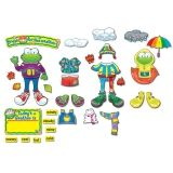 Weather Frog Bulletin Board Set, Grade PK-3