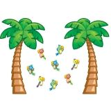 Tropical Trees Bulletin Board Set, 38 Piece set