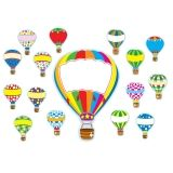 Hot Air Balloons Bulletin Board Set, 38 Pieces