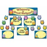 Colorful Owls Job Assignment Grades PK-5