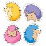 HAPPY HEDGEHOGS COLORFUL CUT OUTS