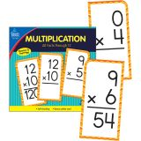 Multiplication All Facts through 12 Flash Cards, 2 Packs