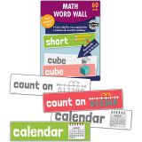 Math Word Wall, Grade K, 3 Packs