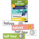 Math Word Wall, Grade 1, 3 Packs