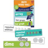 Math Word Wall, Grade 2, 3 Packs