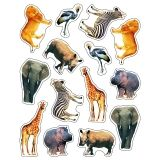STICKERS WILD ANIMALS OF THE  SERENGETI