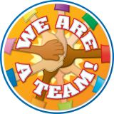 (6 EA) WE ARE A TEAM TWO SIDED DECORATION