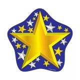 COLORFUL CUT-OUTS GOLD/SILVER 36/PK  STARS SINGLE DESIGN