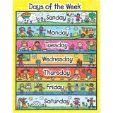 CHART DAYS OF THE WEEK KID DRAWN