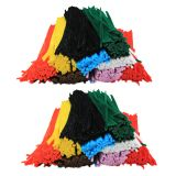 (2 BX) CHENILLE STEMS 12IN ASSORTED COLORS 1000/BOX